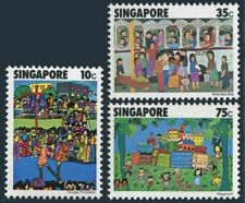 Singapore 285-287,MNH.Michel 288-290. Children's Drawings,l977.