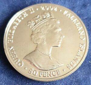 Falklands Islands 2002 Golden Jubilee 50p Commemorative Coin