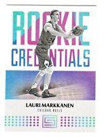 2017-18 Panini Status ROOKIE CREDENTIALS #25 LAURI MARKKANEN RC Rookie Bulls
