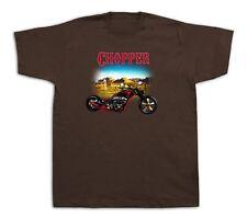 Moto Chopper desierto buzón Hot Rod Tshirts Bobber Personalizado Vintage Harley