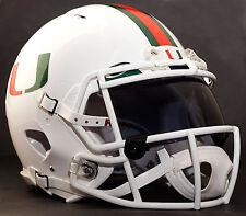 MIAMI HURRICANES NCAA Gameday REPLICA Football Helmet w/ OAKLEY Eye Shield