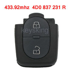 NEW 2 BUTTON FLIP KEY REMOTE FOB 4D0 837 231R 433.92MHZ FOR AUDI A3, A4, A6