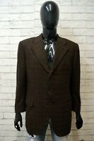 BURBERRY Uomo Taglia 52 Giacca Vintage Cappotto Lana Mohair Blazer Jacket Man