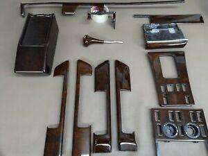 Mercedes benz C126 W126 Wood Trim Set 560sec 500sel 500sec Walnut Burlwood