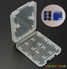 HOT Mini Plastic 8 slots Micro SD TF MS Memory Card Storage Holder Box Case Ahy