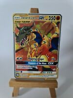 Charizard and Greymon Mewtwo Pokemon GX Team Custom Card In Holo Proxy Digimon