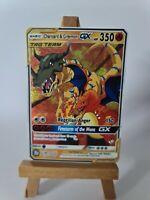 Charizard and Greymon Mewtwo Pokemon GX Team Custom Card In Holo Proxy Digimon