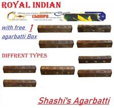 Wooden Incense Stick Holder +free 20 sticks champa agarbatti Burning Joss Box