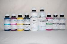 DTG Complete Ink Set - 9 Bottles  250 ml CMYK /PTL/PTP/HC & 500 ml White / PTW