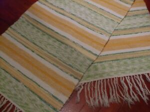 Swedish Vintage Hand Knotted Rug Trasmatta. Hand Woven rug.Swedish Vintage/133cm