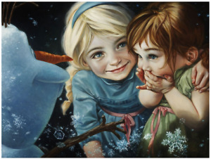 Disney Fine Art Limited Edition Canvas Never Let it Go-Frozen-Heather Edwards