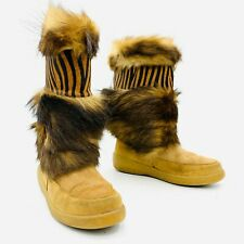 Taiga Oscar Sport Brown Fur Boots Womens Size 40