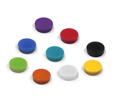 1x Powerful 5pk WHITE Round Push Pin Magnets Fridge Whiteboard Memo Board Map