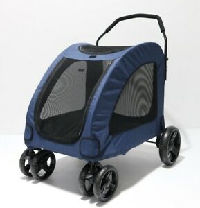 Dog Puppy Push Cart Carrier Large Pet Wagon Jogger Running Off-Road Blue
