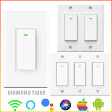 1/2/3 Gang WiFi Smart Light Switch Work w Alexa & Google Voice Remote Control
