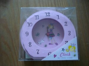 Girls Pink Princess Clock - new