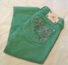 Miss Me Green Skinny Jeans Size 27