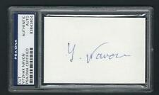 """Yitzhak Navon signed 3-3/4""""x2-1/2"""" card PSA Authenticated 5th Israel President"""