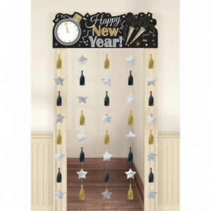 Silvester Deko Türvorhang Happy New Year Kette Party Feier