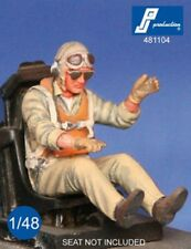 1/48 PJ PRODUCTION US NAVY FIGHTER PILOT SEATED IN A/C (WWII)