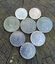 Italian coins 1L 1949, 50L 1971, 1978, 1980,  100L 1974, 1979, 1986, 1995,  8ps