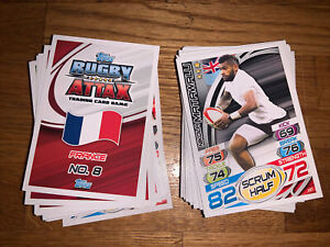 Rugby Attax 2015-75 Cards With S/Players Base Legends And 5 Shiny Legends
