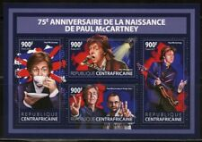 CENTRAL AFRICA 2017 75th BIRTH OF PAUL McCARTNEY BEATLES SHEET MINT  NH