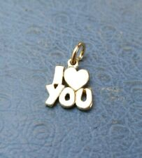 James Avery Retired 14K Yellow Gold I Love You Heart Charm