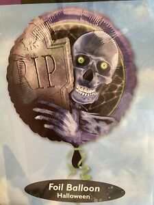 "2 X 18"" Anagram Skeleton Ghost Graveyard Halloween Foil Helium Balloons Party"