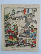 COUVERTURE CAHIER - - - CONQUETE DU TONKIN = défense héroique de TUYEN-QUAN