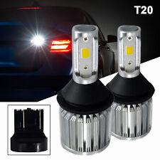 A1 2x W21W 7443 LED Bulbs COB 30W Super Bright Back Up Reverse Light 6K White