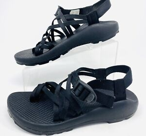 Chaco Unaweep Women's ZCloud X2 Sport Hiking Sandals Solid Black Size 8 EUC