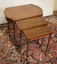 Elegant set of 3 nesting tables by Baker Furniture circa 1960