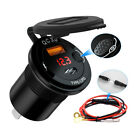 QC3.0 Type-C USB Fast Car Charger Quick Charging Universal with Voltage Display