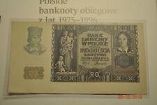 POLAND 20 ZŁOTYCH 1940 UNC/UNC- II WW PREFIX N VERY RARE SERIES !!!