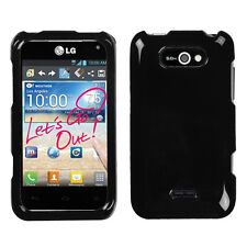 LG Motion 4g Optimus Regard HARD Protector Case Snap Phone Cover Glossy Black
