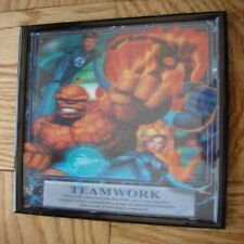 teamwork incredible 4 fire black picture frame art 3d