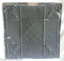 "24""x 24"" Antique Ceiling Tin Tile Reclaimed Black Metal Vintage"