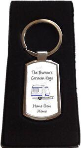 Personalised Caravan Keys Metal Keyring Gift
