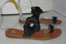 e7648ba3dce new Summer Black Flower Womens Shoes Toe Strap Sexy Sandals Size Size 8.5