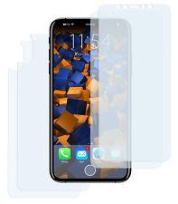mumbi 4x Folie für Apple iPhone X 2x Vor+ 2x Rück Schutzfolie klar Displayschutz
