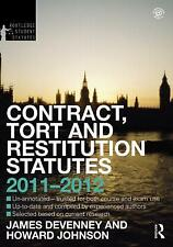 Contract, Tort and Restitution Statutes 2011-2012 (Routledge Student Statutes),