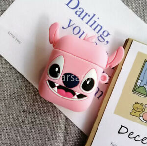 New Cute 3D Cartoon Airpods Silicone Charging Case For Airpods 1 And 2.