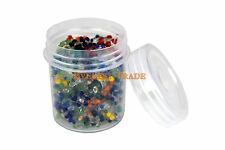 10000 GLASS SCREENS Daisy Style ASSORTED COLORS in Plastic Container