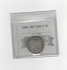**1927**, Coin Mart Graded Canadian, 25 Cent, **F-15**