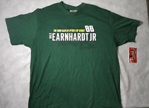 Dale Earnhardt Jr 88 Nascar 2009 Spring Cup Series Green T Shirt Men Size XL