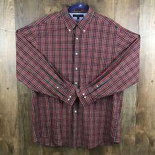 Tommy Hilfiger Men's Shirt Size 17 34-35 XL Long Sleeve Button Up Checks & Plaid
