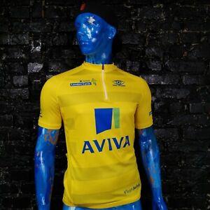 Pro Vision Cycle biking sports Jersey Team Aviva Yellow Shirt Mens Size XL