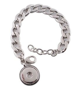 Silver Chain Link 18-20mm Interchangeable Bracelet For Ginger Snaps Jewelry