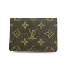Louis Vuitton Monogram Porte 2 cartes Vertical Pass Card Case /A0302